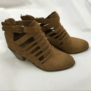 G by guess laser cut ankle booties